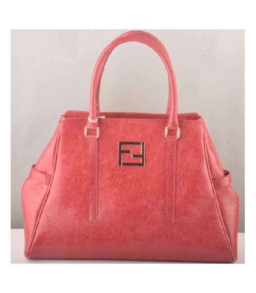 Fendi Zucca Bag Red Leather
