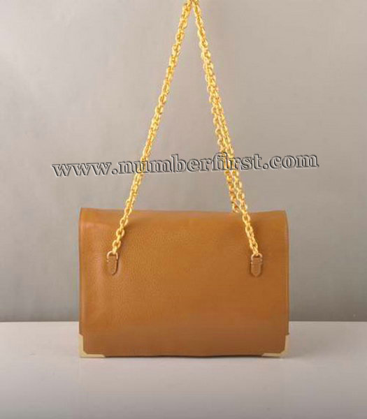 Fendi Chain Shoulder Bag in Earth Yellow-1