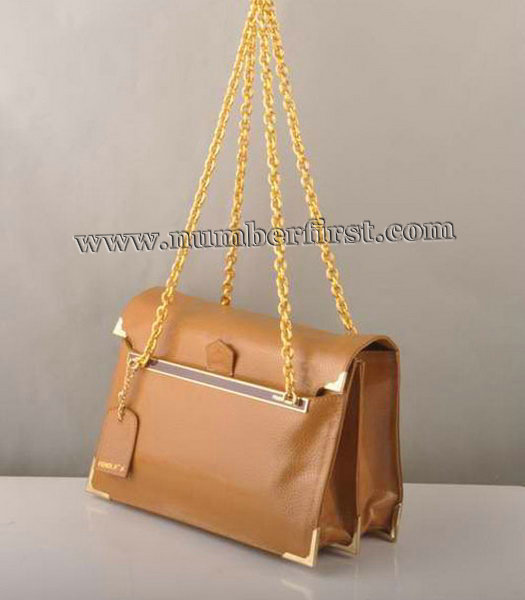 Fendi Chain Shoulder Bag in Earth Yellow-2