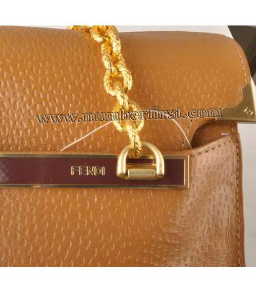Fendi Chain Shoulder Bag in Earth Yellow-4