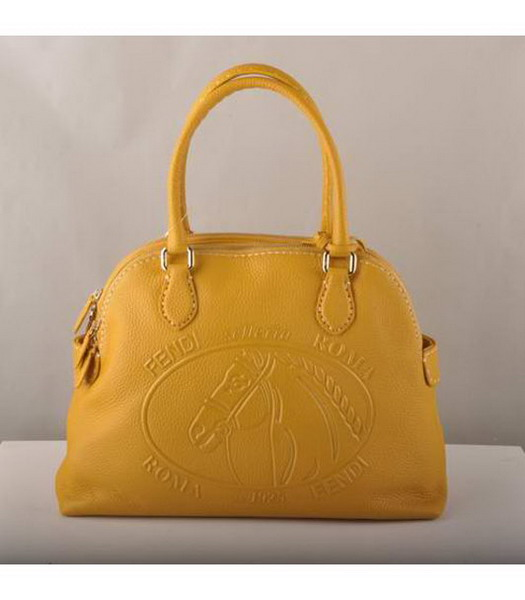 Fendi Tote Bag Yellow Cow Leather-1