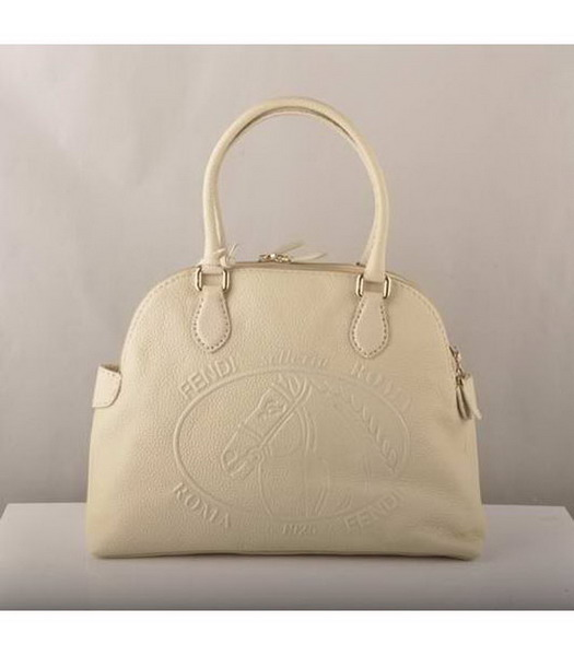 Fendi Tote Bag Offwhite Cow Leather-1