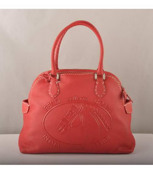 Fendi Tote Bag Red Cow Leather-1
