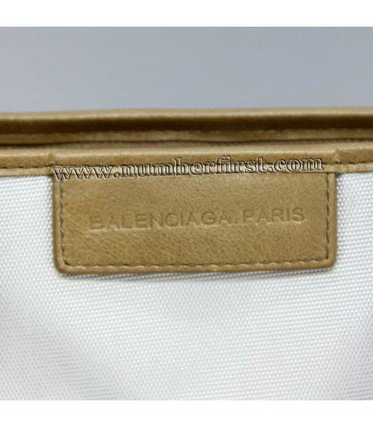 Balenciaga Canvas Tote Bag with Leather Lining in White-5