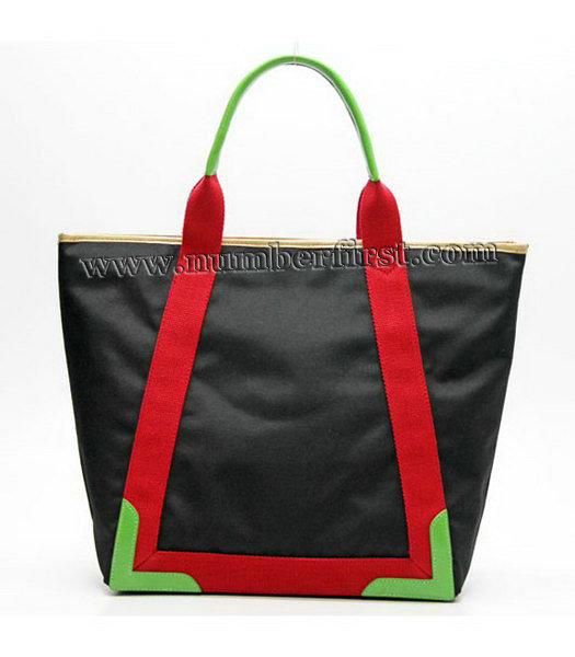 Balenciaga Canvas Tote Bag with Leather Lining in Black-2