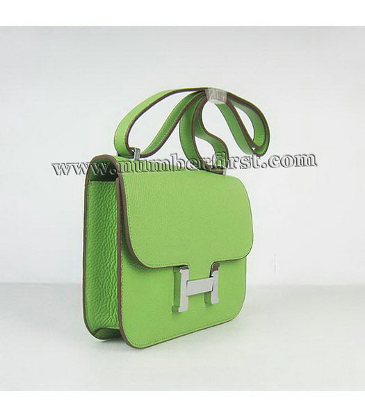 Hermes Constance Bag Silver Lock Green Togo Leather-1