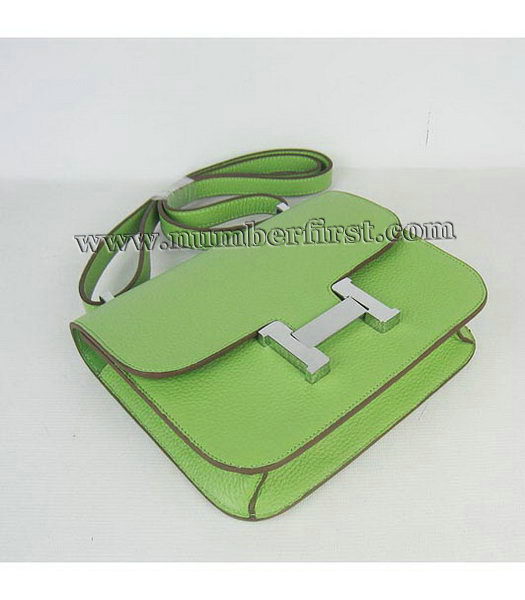 Hermes Constance Bag Silver Lock Green Togo Leather-3