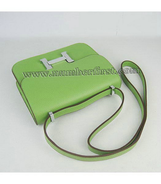 Hermes Constance Bag Silver Lock Green Togo Leather-4