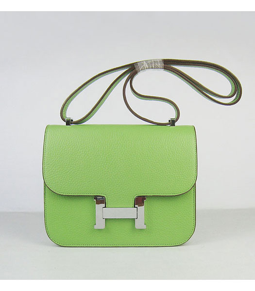 Hermes Constance Bag Silver Lock Green Togo Leather