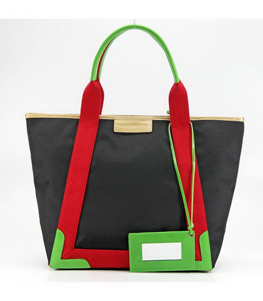 Balenciaga Canvas Tote Bag with Leather Lining in Black-1