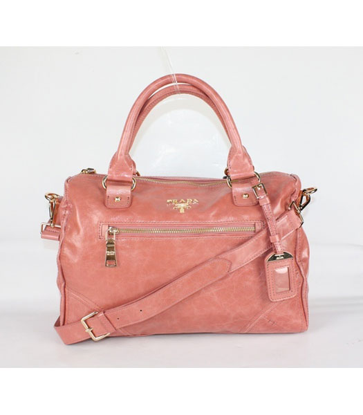 Prada Middle Calf Leather Tote Bag in Pink
