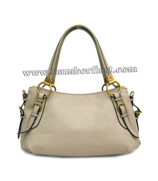 Prada Nappa Gaufre Tote Bag in Grey Leather-1