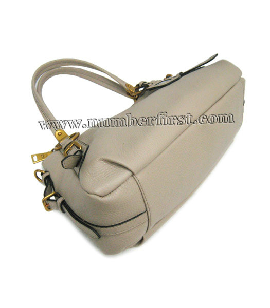 Prada Nappa Gaufre Tote Bag in Grey Leather-3