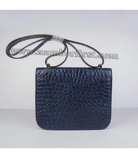 Hermes Constance Bag Gold Lock Dark Blue Stone Veins Leather-2