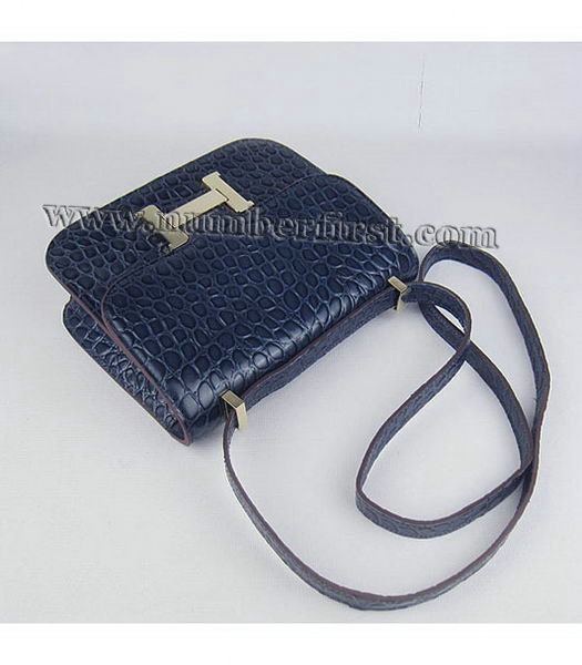 Hermes Constance Bag Gold Lock Dark Blue Stone Veins Leather-4