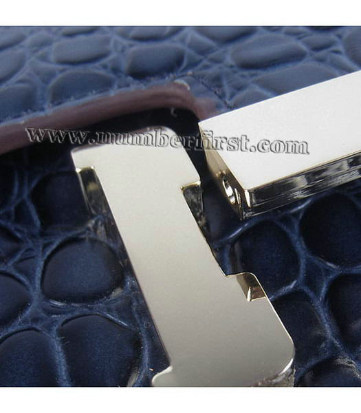 Hermes Constance Bag Gold Lock Dark Blue Stone Veins Leather-6