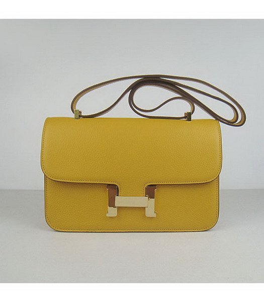 Hermes Constance Gold Lock Yellow Togo Leather Bag