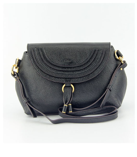 Chloe Marcie Small Cross-Body Bag in Black Leather