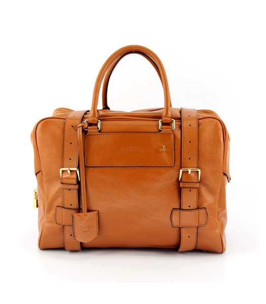 Loewe Bowling Bag in Light Coffee Leather