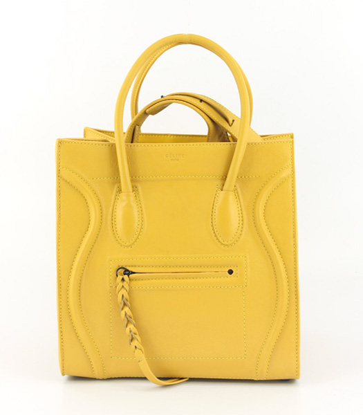 Celine Small Tote Bag in Yellow Oil Wax Leather