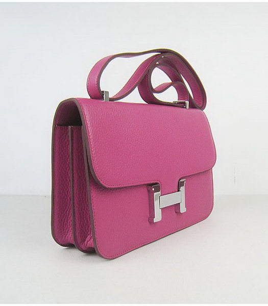 Hermes Constance Silver Lock Peach Togo Leather Bag-1