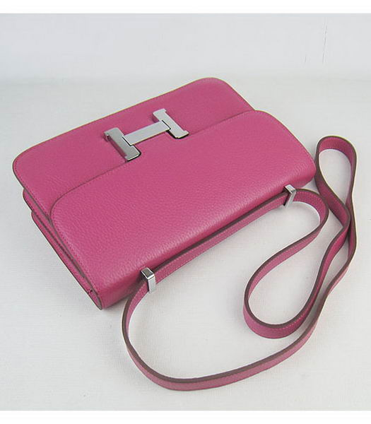 Hermes Constance Silver Lock Peach Togo Leather Bag-4