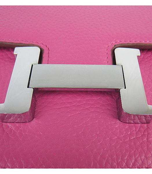 Hermes Constance Silver Lock Peach Togo Leather Bag-5