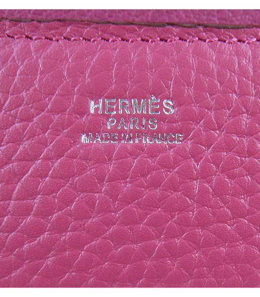 Hermes Constance Silver Lock Peach Togo Leather Bag-7