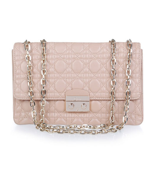 Christian Dior Chain Lambskin Bag in Apricot