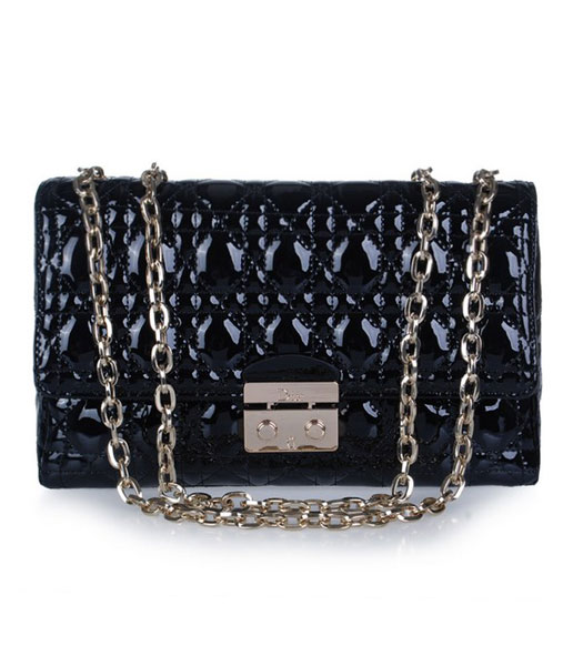 Christian Dior Chain Bag in Black Leather