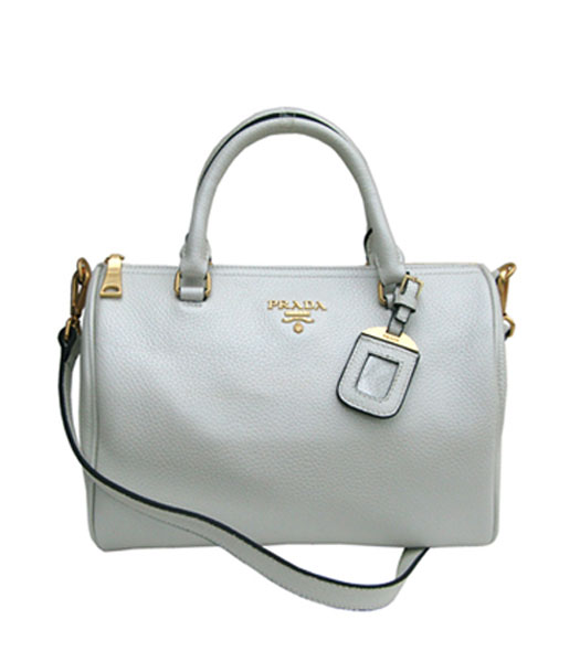 Prada Cowhide Leather Tote Bag in Pearl Color