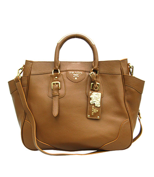 b7452ba316 Prada Vitello Daino Tote Bag Light Coffee - Replica Handbags