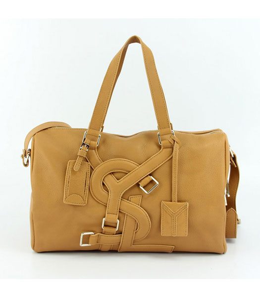 Yves Saint Laurent Medium Vavin Duffle Bag in Earth Yellow Classic Leather