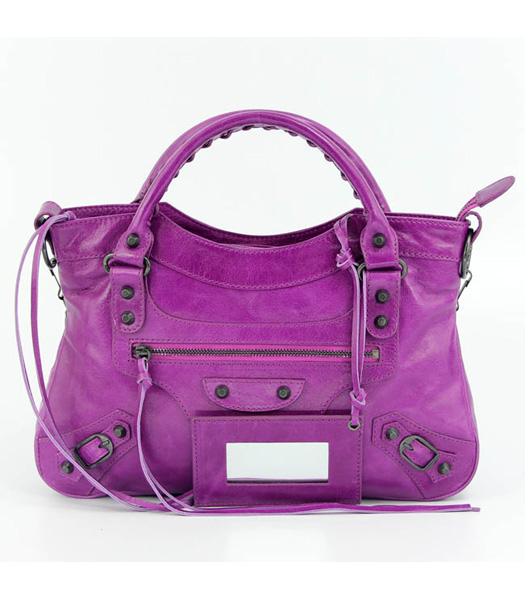 Balenciaga Mini Motorcycle City Bag Middle Purple (Copper Nails)