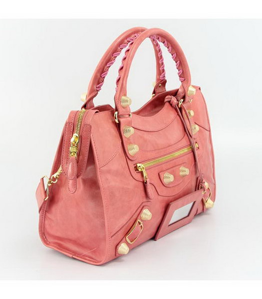 Balenciaga Motorcycle City Bag in Dark Red Oil Leather (Gold Nails)-1