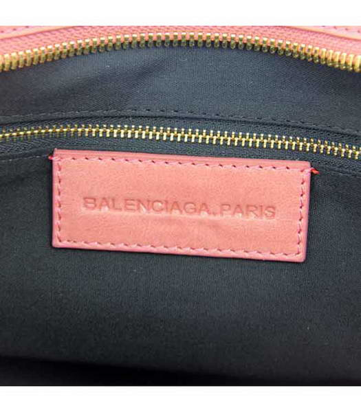 Balenciaga Motorcycle City Bag in Dark Red Oil Leather (Gold Nails)-5