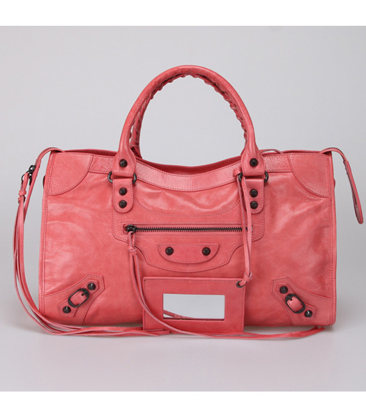 Balenciaga City Bag in Light Red (Copper Nails)