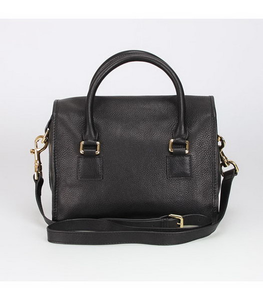 Loewe Small Tote Handbags Black Calfskin Veins Leather-3