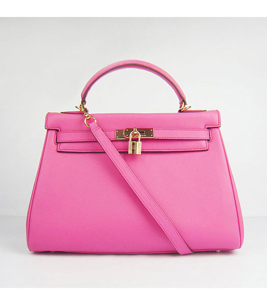 Hermes Birkin 32cm Pink Plain Veins Bag Gold -1