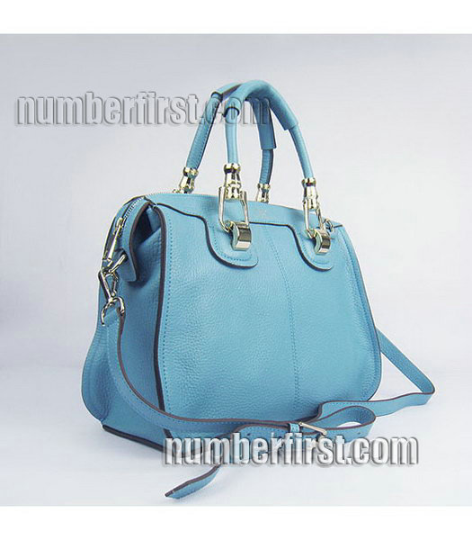 Hermes Double-duty Togo Leather Small Bag Light Blue-1