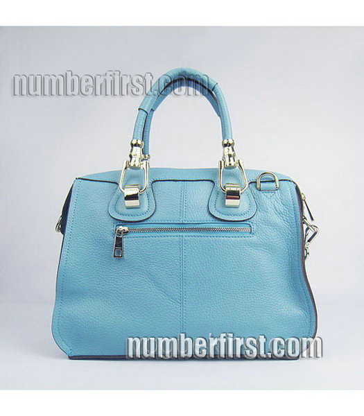 Hermes Double-duty Togo Leather Small Bag Light Blue-2