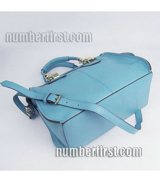 Hermes Double-duty Togo Leather Small Bag Light Blue-3