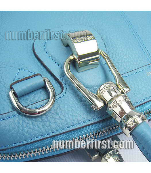 Hermes Double-duty Togo Leather Small Bag Light Blue-5