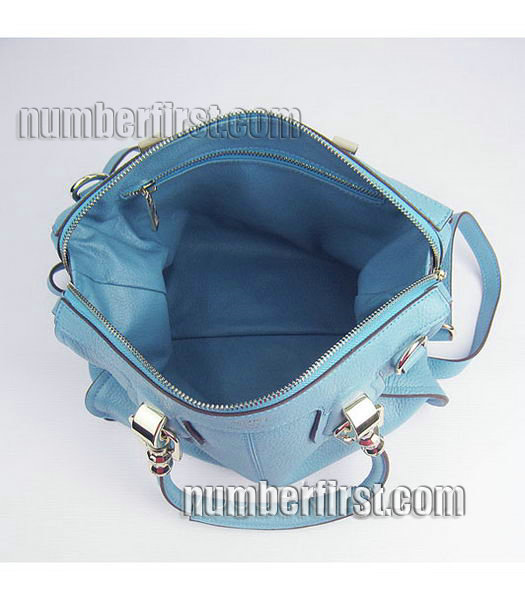 Hermes Double-duty Togo Leather Small Bag Light Blue-6
