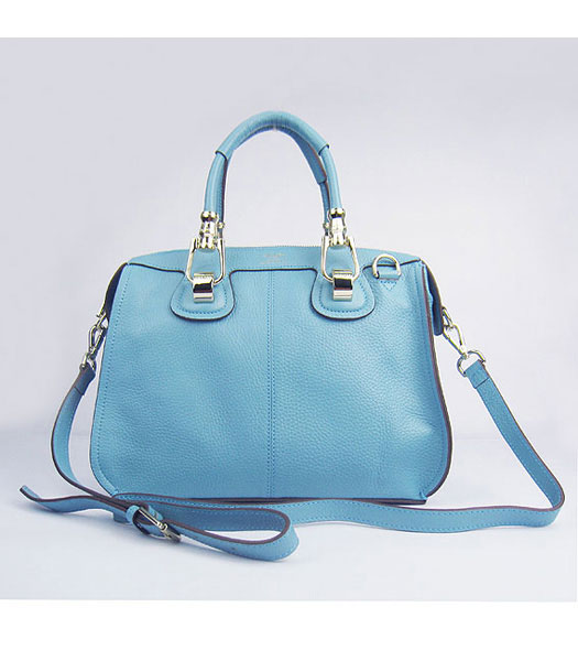 Hermes Double-duty Togo Leather Small Bag Light Blue