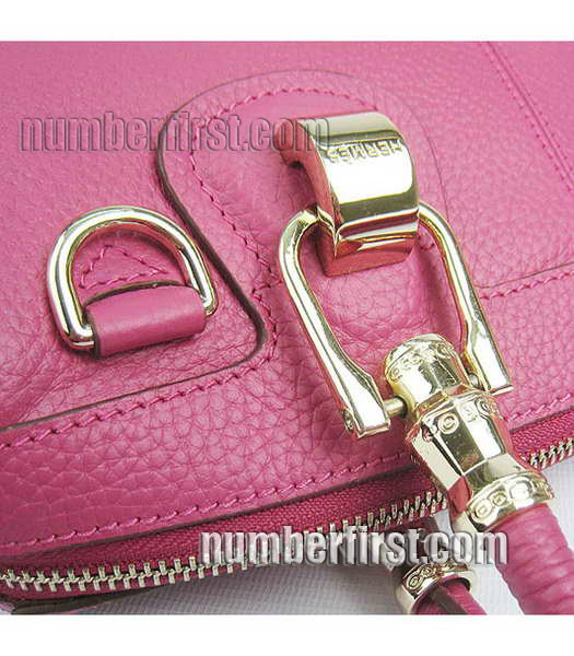 Hermes Double-duty Togo Leather Small Bag Peach-5
