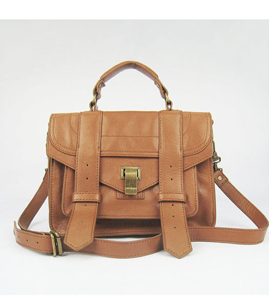 Proenza Schouler Lambskin Leather Satchel Small Bag in Apricot