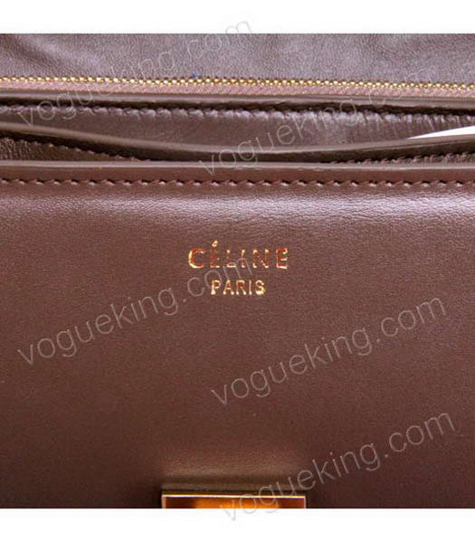 Celine New Apricot Napa Leather Handbag-5