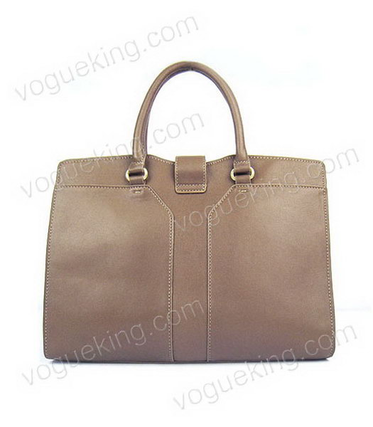 Yves Saint Laurent Goat Lambskin Leather Cabas Grey Tote Bag-2