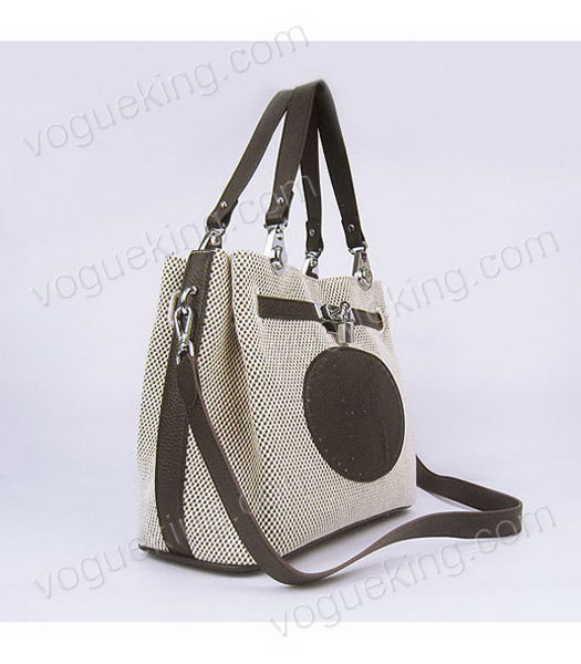 24a35558c45 ... wholesale hermes mini so kelly bag fabric with dark coffee togo leather  silver metal 1 76333